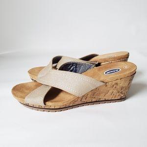 Dr. Scholls Cork Slip On Comfort Sandals EUC!
